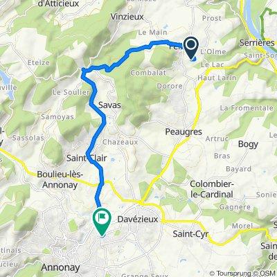 De 779 Route de Brezon, Félines à 28 Rue de la Lombardière, Annonay