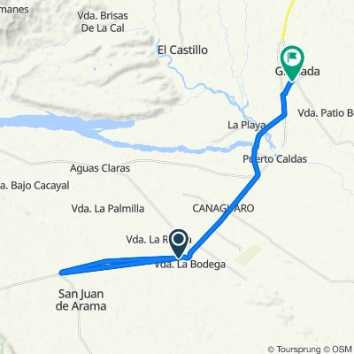 De 65A, San Juan De Arama a Calle 15 15-1–15-99, Granada