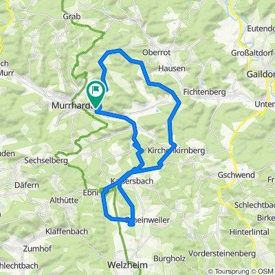 Alm-Glashofen-Wolfsbrück-Schanze-Kaisersbach-Aichstrutsee-Ebnisee-Alm