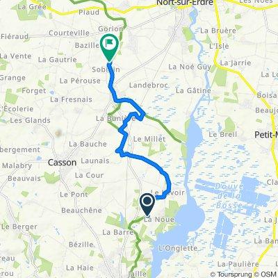 De Route du Lavoir, Sucé-sur-Erdre à 5 Sobidin, Nort-sur-Erdre
