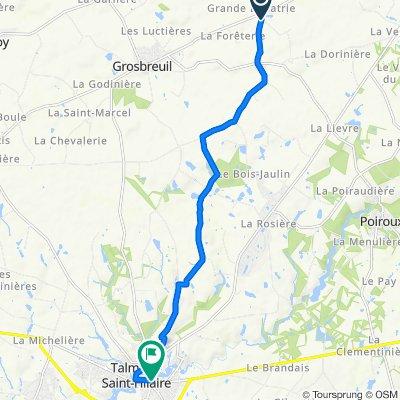 De 3600 Route des Alouettes, Grosbreuil à 25 Avenue de Luçon, Talmont-Saint-Hilaire