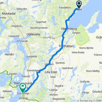 Sörbo, Brålanda to Getskärsvägen 1–7, Stora Höga