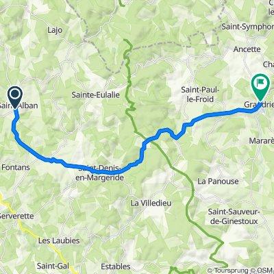 28 Grand'Rue, Saint-Alban-sur-Limagnole naar 6014 Rue Principale, Grandrieu