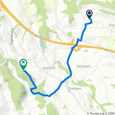 Route von Industriestrasse 3, Wädenswil
