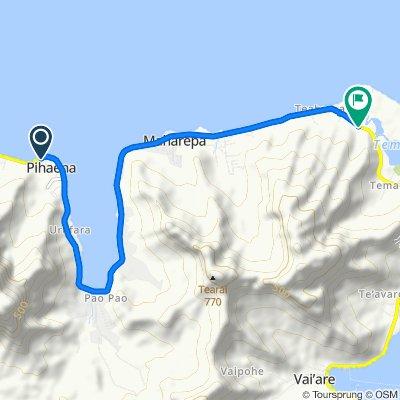 De Unnamed Road, Moorea-Maiao à Polynésie française, Moorea-Maiao
