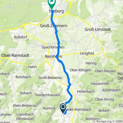 Saroltastraße 29, Fränkisch-Crumbach nach Ulmenweg 7, Dieburg