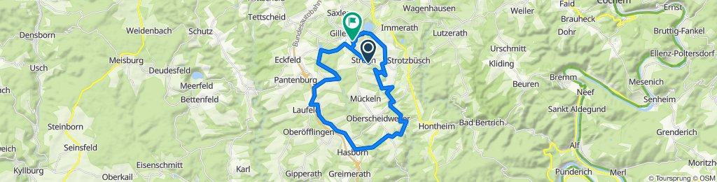 Route nach Strohner Straße 31, Gillenfeld