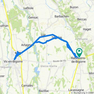 De 8 Place du Foirail, Rabastens-de-Bigorre à 1 Rue Cabos, Rabastens-de-Bigorre