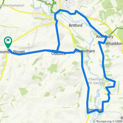 Harwood Cottages, Marsh Lane, Salisbury to Thatch House, Homington Road, Salisbury