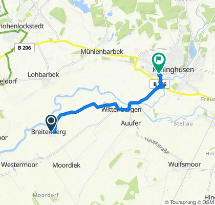Drosselweg 8, Breitenberg nach Jacob-Fleischer-Straße 3, Kellinghusen