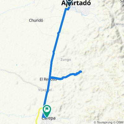 Steady ride in Carepa
