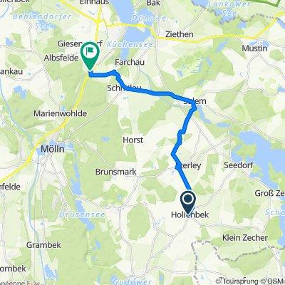 Hollenbek, Schoolstieg nach Domänenweg 991, Fredeburg