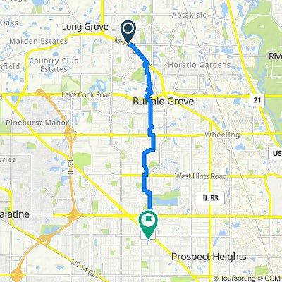 Belmar Lane 861, Buffalo Grove to East Rand Road 1432, Arlington Heights