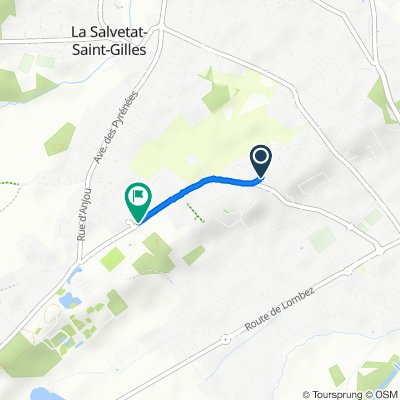 De Rue du Roussillon 22, Plaisance-du-Touch à Rue des Ardennes 1, Plaisance-du-Touch