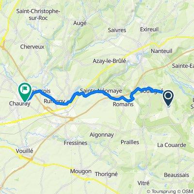 De 2 Chemin du Paradis, Souvigné à 42 Rue du Château, Chauray