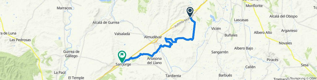 Abajo de las canteras-Artasona-San Jorge