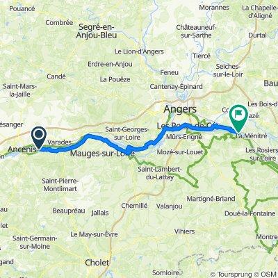 Les Babins, Orée-d'Anjou to Rue des Gabares 14, Loire-Authion