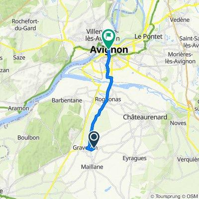 Route de Châteaurenard 1863, Graveson nach Rue Félicien David 7, Avignon
