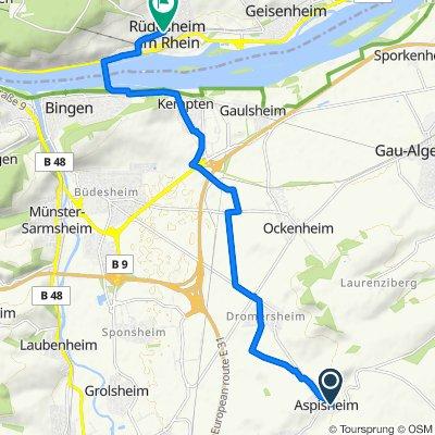 Schulstraße 7, Aspisheim nach Adolf-Kolping-Straße 11, Rüdesheim am Rhein