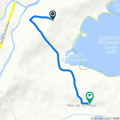 Chemin de la Serre, Pollestres naar 811 La Prada, Bages