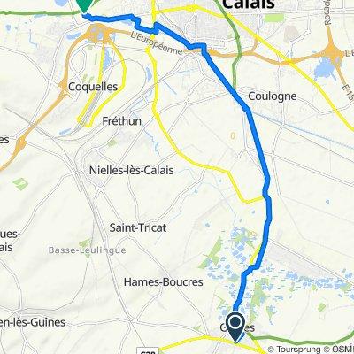 De 87 Boulevard Blanchard, Guînes à L'Ecrapette, Calais