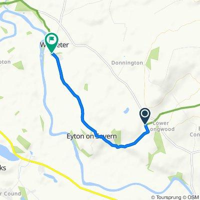 Route to 1–4 Wroxeter, Shrewsbury