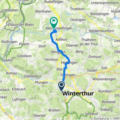 Schlossmühlestrasse 259, Winterthur nach Bodenwiesstrasse 8, Andelfingen