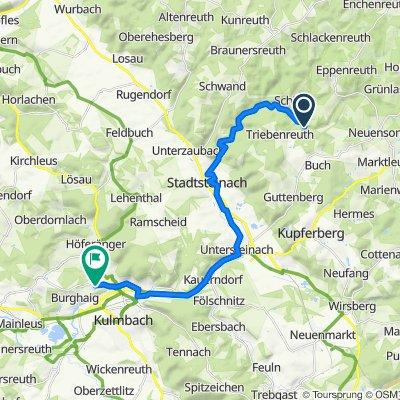 Unnamed Road, Stadtsteinach nach Am Gartenfeld 45, Kulmbach