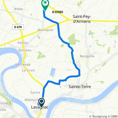De 216 Avenue du Général de Gaulle, Sainte-Terre à 25 Reynaud, Saint-Pey-d'Armens