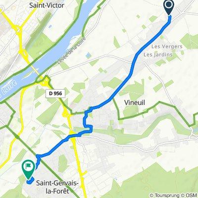 De 7 Rue de la Voûte, Vineuil à 8 Passage du Caillou Blanc, Saint-Gervais-la-Forêt