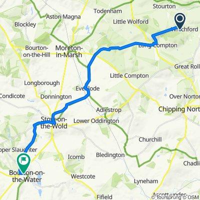 Roman Row 21, Whichford to Lansdowne 4, Bourton-on-the-Water