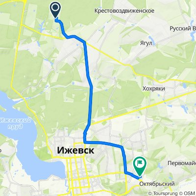 От Unnamed Road до Союзная улица 23А, Ижевск
