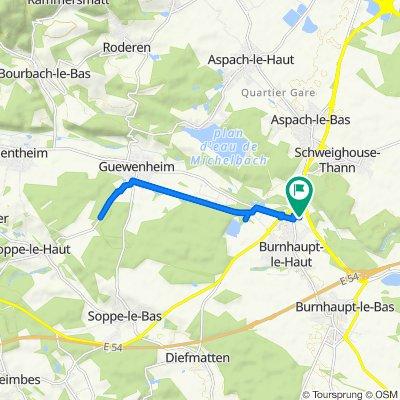 Pont d'Aspach 24, Burnhaupt-le-Haut to Pont d'Aspach 24, Burnhaupt-le-Haut