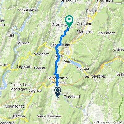De 30 Route de la Combe du Val, Condamine à Rue Saint-Romain, Izernore