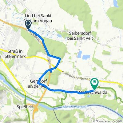 Pyhrn-Autobahn, Straß-Spielfeld nach Unterschwarza 20, Unterschwarza