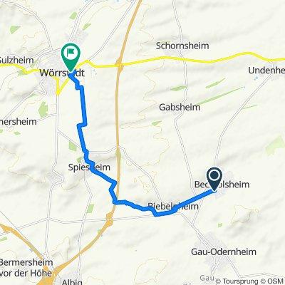 Sulzheimer Straße 3–33, Bechtolsheim nach Zum Oberfeld 10, Wörrstadt