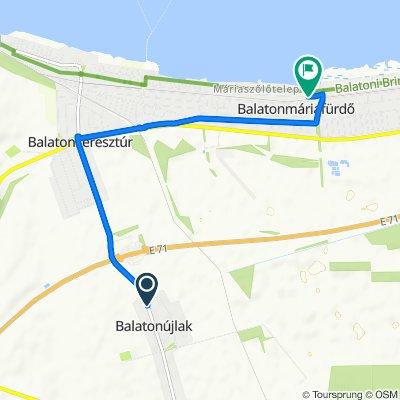 Balaton utca 80, Balatonújlak to Rákóczi Ferenc utca 329, Balatonmáriafürdő