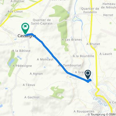 De D142, Valence-sur-Baïse à D142, Cassaigne