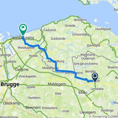 Vaartstraat 34, Kaprijke naar Lippenslaan 228–254, Knokke-Heist