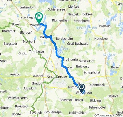 Willingrader Straße 13, Groß Kummerfeld nach Langwedeler Weg 11, Warder