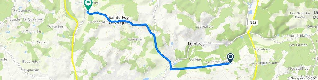 Route de Pombonne 49, Creysse to D4E3, Ginestet