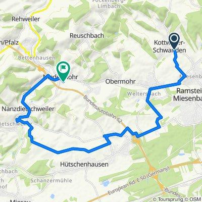 Miesenbacher Straße 6A, Kottweiler-Schwanden to Gertweiler 13, Niedermohr