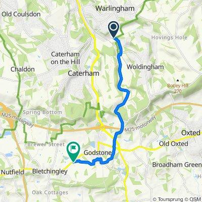 Halliloo Valley Road, Caterham to Waterhouse Lane, Redhill