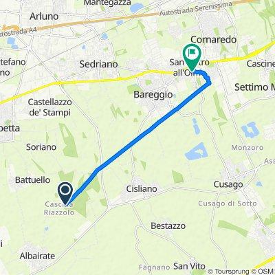 Percorso per Via Giotto 8, Cornaredo