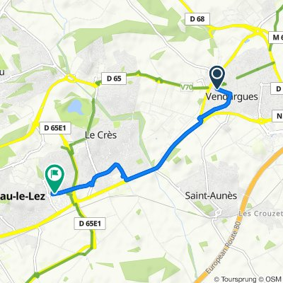 De 20B Rue de la Fontaine, Vendargues à 2 Rue du Clos des Chênes, Castelnau-le-Lez