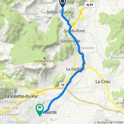 De Route Départementale 554, Solliès-Toucas à Résidence Le Sezio, La Garde