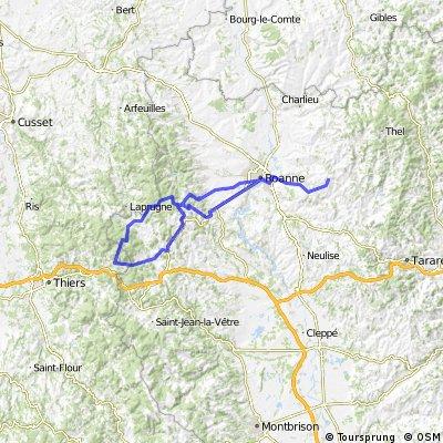 Montagny/Roanne/Villemontais/Vieux Chérié/Croix Trévingt/La Mataude/St-Just-en-Chevalet/Col St-Thomas/Col de La Charme/St-Priest-la-Prugne/Pic de Rochefort/St-A