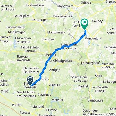 De 6–12 Rue de la Gâtine, Saint-Cyr-des-Gâts à 1 La Pommaire, La Forêt-sur-Sèvre