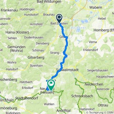 Route von Ringstraße 3, Bad Zwesten