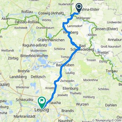 Radweg Wittenberg - Leipzig 2